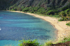 Hawaii. Paradise beach side of Hanauma Bay Hawaii royalty free stock photo