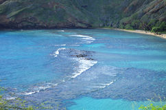 Hawaii. Paradise beach side of Hanauma Bay Hawaii stock photos
