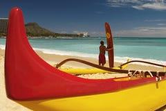 Hawaii - playa de Waikiki Fotos de archivo libres de regalías