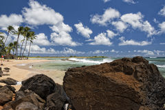 Hawaii Poipu beach landscape Stock Photography
