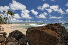 Hawaii Poipu beach landscape. Panorama on sunny day Stock Photography