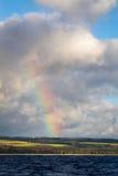 Hawaii-Regenbogenansicht vom Ozean stockbild