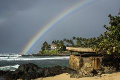 Hawaii regnbåge fotografering för bildbyråer