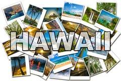 Hawaii representa el collage Fotografía de archivo