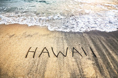 Hawaii on the sand Stock Photography