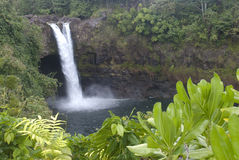 Hawaii Scenery: Rainbow Falls Waterfall Stock Images