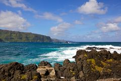 Hawaii sea shore Royalty Free Stock Image