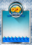 Hawaii Signboard with blue Waves Royalty Free Stock Photo