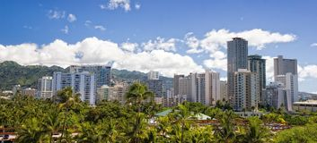 Hawaii Skyline Royalty Free Stock Photos