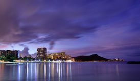 Hawaii skyline at sunrise Royalty Free Stock Photo