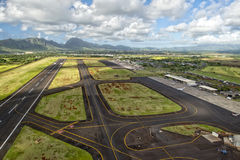 Hawaii small airport. Tropical island hawaii small airport Stock Images