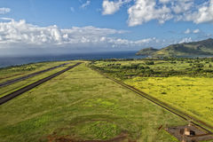 Hawaii small airport. Tropical island hawaii small airport Royalty Free Stock Image