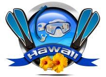 Hawaii Snorkeling - Metal Icon Stock Image