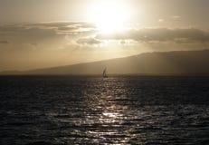 hawaii solnedgång Arkivfoton