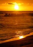 Hawaii solnedgång 5 Arkivbild