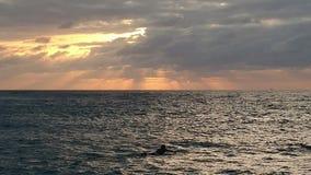 Hawaii solnedgång royaltyfria foton