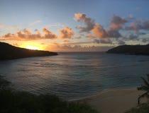 Hawaii-Sonnenuntergang stockfotos