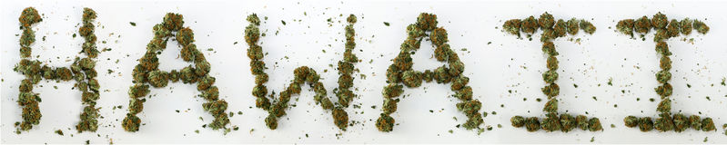 Hawaii Spelled With Marijuana Stock Photography