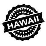 Hawaii stamp rubber grunge Stock Images