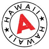 Hawaii stamp rubber grunge Royalty Free Stock Images