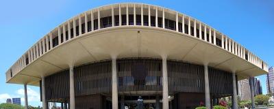 Hawaii State Capitol Building stock photos