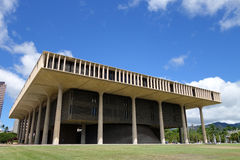 Hawaii State Capitol Building in Honolulu Stock Photo