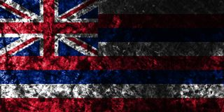 Hawaii state grunge flag, United States Of America vector illustration