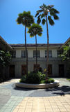 Hawaii State Library Courtyard Royalty Free Stock Images