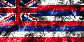 Hawaii state smoke flag, United States Of America royalty free illustration