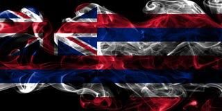 Hawaii state smoke flag, United States Of America.  royalty free stock photo