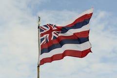 Hawaii statflagga Arkivfoto