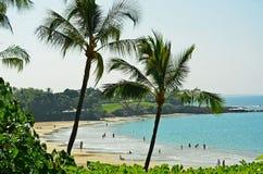 Hawaii stor ö Mauna Kea Beach Arkivbild