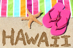 Hawaii strandlopp Arkivbild