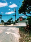 Hawaii Street. Aesthetically pleasing roads Stock Photo