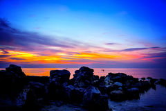 hawaii sunset Zdjęcia Royalty Free