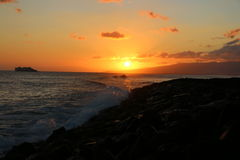 Hawaii Sunset Royalty Free Stock Photo