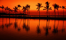 Hawaii sunset Stock Photos