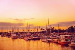 Hawaii sunset beautiful colors at harbor Stock Image