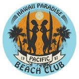 Hawaii surfer sign Royalty Free Stock Image