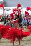 Hawaii-Tänzer - indischer Eingeborener des Festivals Lizenzfreie Stockfotografie