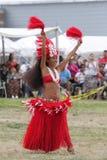 Hawaii-Tänzer - indischer Eingeborener des Festivals Lizenzfreies Stockbild