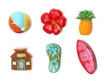 Hawaii-themenorientierte Kerzen Lizenzfreie Stockfotos