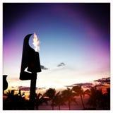 Hawaii tiki torch Stock Photo