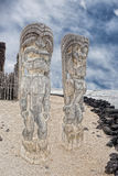 Hawaii Tiki Wooden Statue Stock Photo