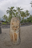 Hawaii Tiki wooden statue Stock Images