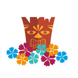 Hawaii totem culture icon Royalty Free Stock Photo