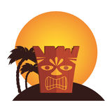 Hawaii totem culture icon Royalty Free Stock Image