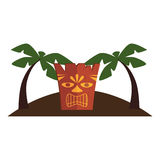 Hawaii totem culture icon Stock Photography