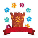 Hawaii totem culture icon Stock Images
