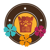 Hawaii totem culture icon Royalty Free Stock Photos